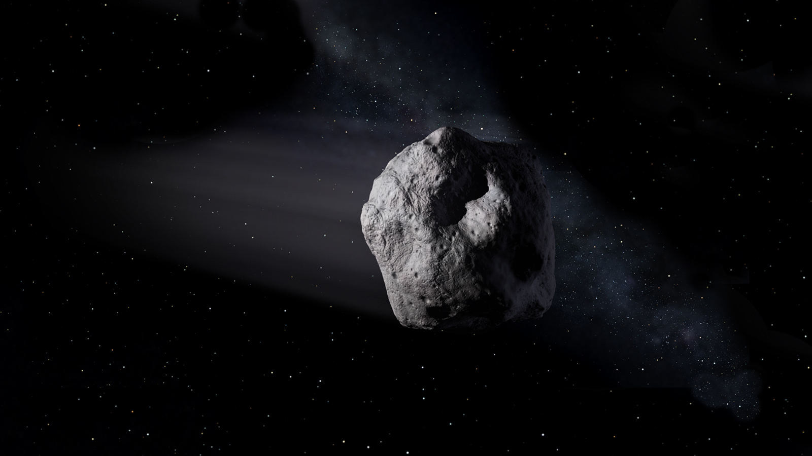 Artist's concept of a near-Earth object Image: ----- Courtesy NASA/JPL-Caltech